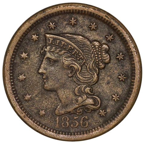 1856 Braided Hair Large Cent - Extremely Fine Detail