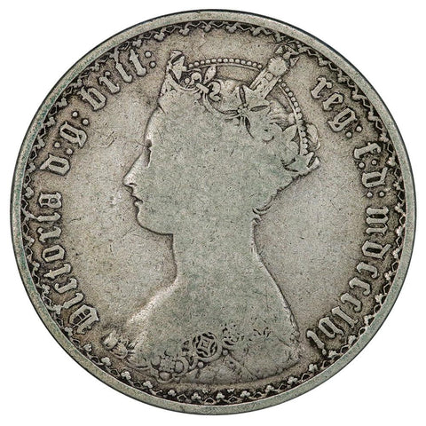1856 Great Britain Silver Florin KM.746.1 - Very Good
