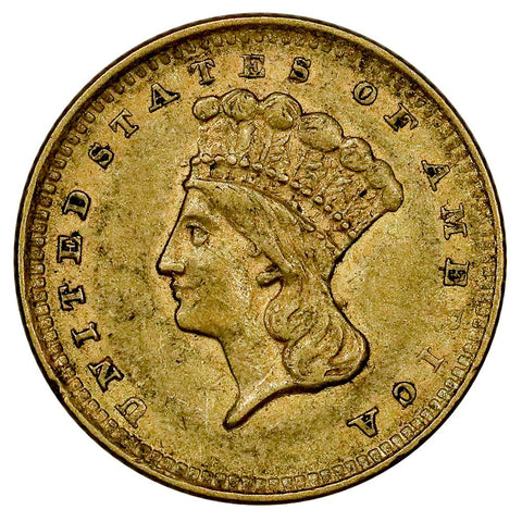 1856 Type-3 Gold Dollar - Extremely Fine