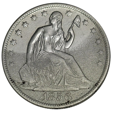 1856-O Seated Liberty Half Dollar - About Uncirculated Detail (Saltwater)