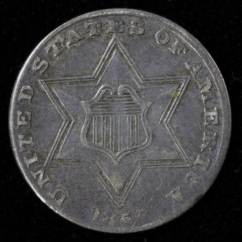 1858 Three Cent Silver (Trime) - Very Fine