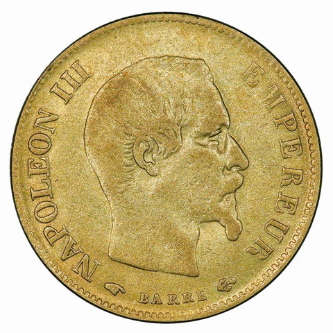 1859-A French Napoleon 10 Franc Gold Coin KM.784.3 - Very Fine