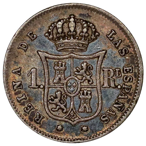 1859 Spain Silver Real KM.606.2 - Extremely Fine