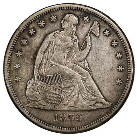 1859-O Seated Liberty Dollar - Extremely Fine