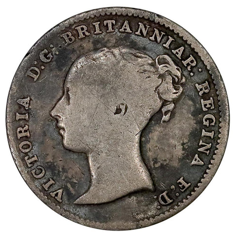 1861 Great Britain Victoria Silver Three Pence KM.730 - Fine