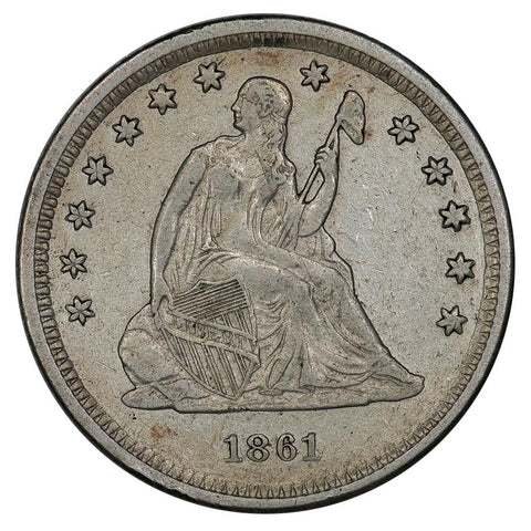 1861 Seated Liberty Quarter - Very Fine/Extremely Fine