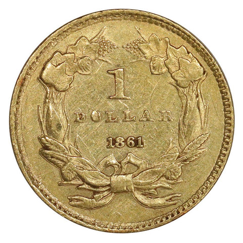1861 Type-3 Gold Dollar - Extremely Fine