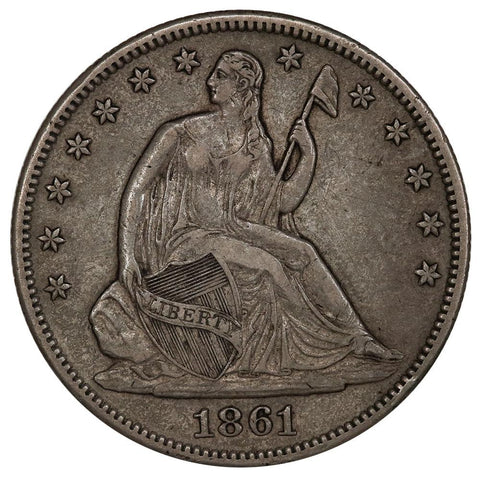 1861-O Seated Liberty Half Dollar - Extremely Fine