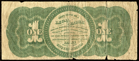 1862 $1 Legal Tender Series of 1862 Fr. 17a ~ Net Very Good+