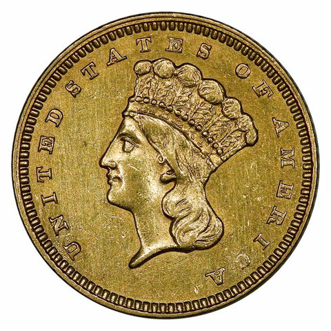 1862 Type-3 Gold Dollar - About Uncirculated+