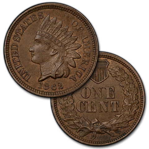 1859 to 1909 Indian Head Cents By Date - Brilliant Uncirculated