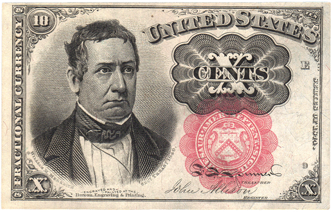 (1874-1876) 5th Issue 10¢ Fractional Fr. 1266 ~ Very Fine/Extremely Fine