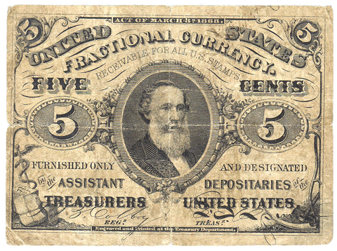 (1864-1869) 3rd Issue 5¢ Fractional Fr. 1238 ~ Fine