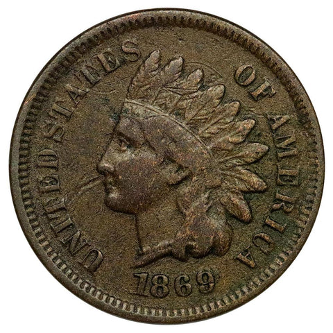 1869/9 Indian Head Cent Snow-3 FS-301 - Very Good+ Detail