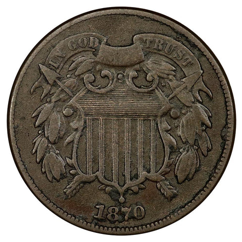 1870 Two Cent Piece - Fine