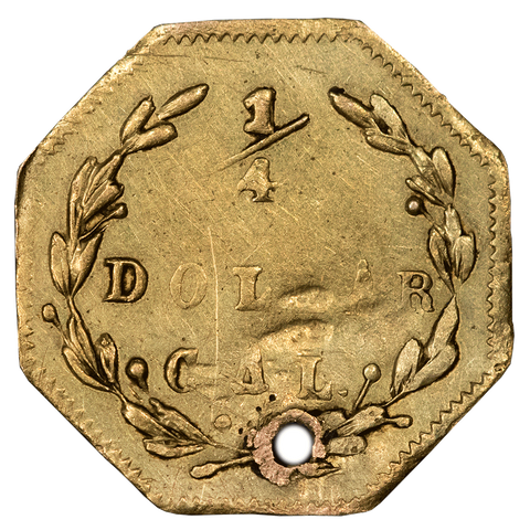 1870 25C California Fractional Gold - BG-762 - Extremely Fine Details