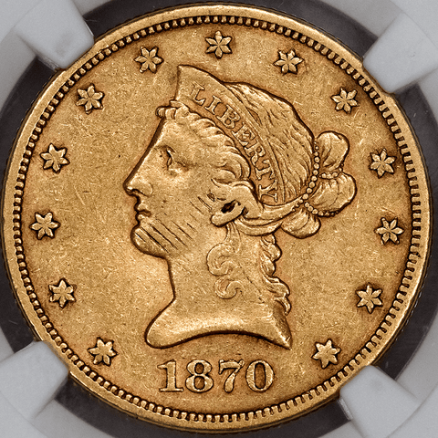 1870-S $10 Liberty Gold Eagle - NGC XF Details Obverse Damage