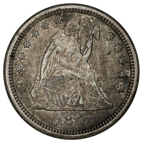 1876-CC Seated Liberty Quarter - Extremely Fine