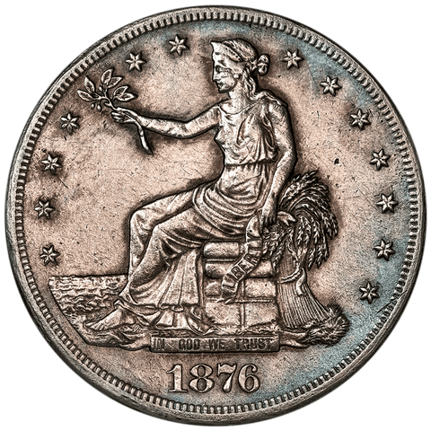 1876-CC Trade Dollar - Extremely Fine Details