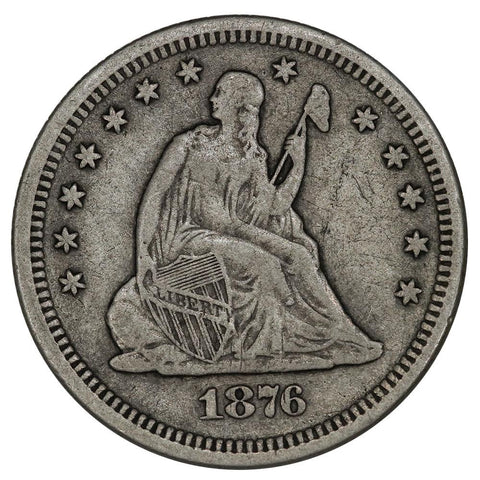 1876-S Seated Liberty Quarter - Very Fine