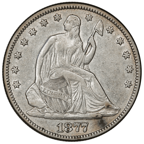 1877 Seated Liberty Half Dollar - Very Fine Details (cleaned)