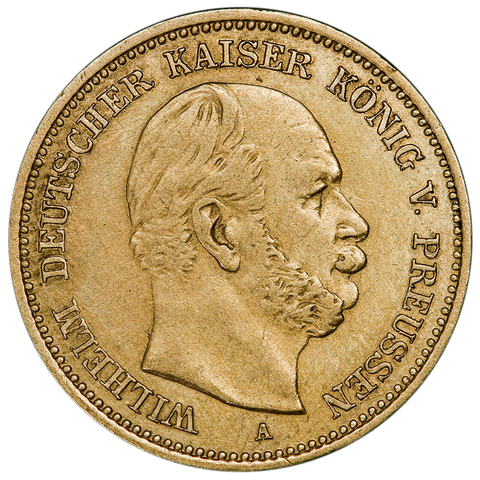 1877-A German States \ Prussia Gold 5 Mark KM.507 - Very Fine/Extremely Fine