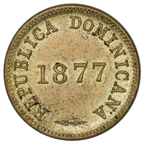 1877 Dominican Republic Centavo KM.3 - About Uncirculated