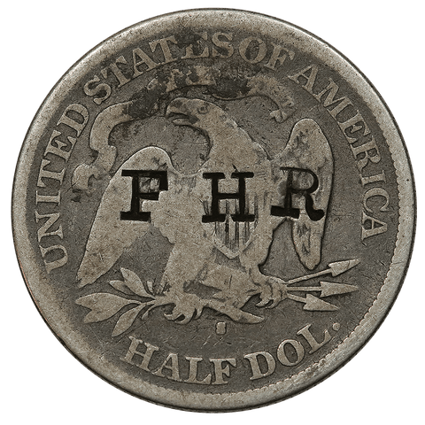 1877-S Seated Liberty Half - Counterstamped: F H R - Good