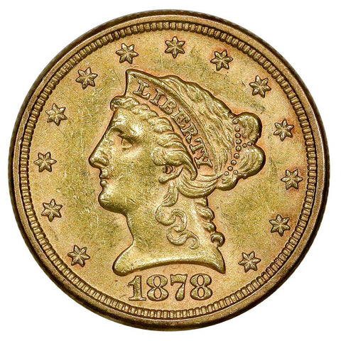 1878 $2.5 Liberty Head Gold Coin - PQ Brilliant Uncirculated
