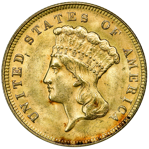 1878 $3 Princess Gold Coin - Premium Quality BU