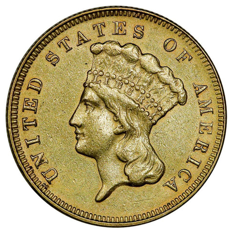 1878 $3 Princess Gold Coin - About Uncirculated