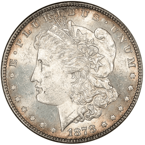 1878 7/8 TF Morgan Dollar VAM-33 - ANACS MS 62