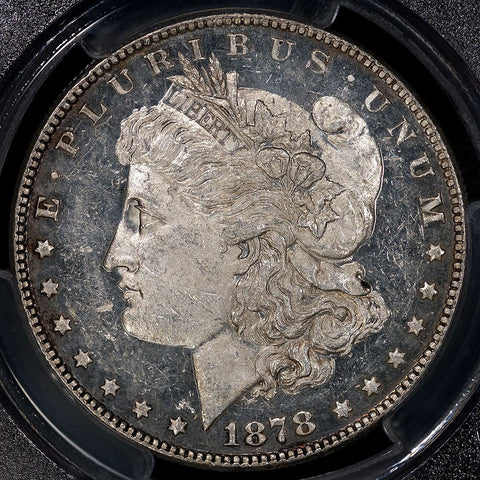 1878 7TF Reverse of 1878 Morgan Dollar - PCGS MS 60 PL