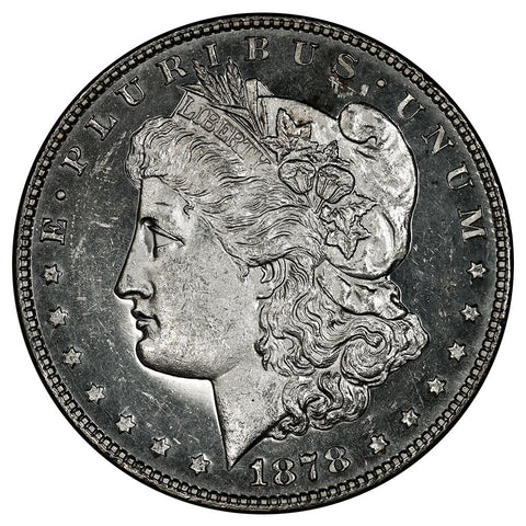 1878 7TF Long Nock Morgan Dollar VAM-80  - Brilliant Uncirculated Prooflike