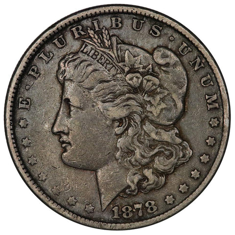 1878 8 Tailfeather Morgan Dollar - Very Fine