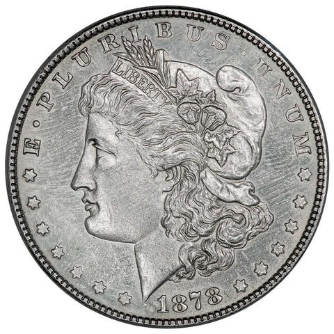 1878 8 Tail Feather Morgan Dollar VAM-21 - AU Details (cleaned)