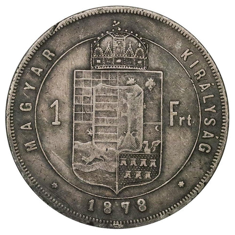 1878-KB Hungary Silver Forint KM. 453.1 - Very Fine