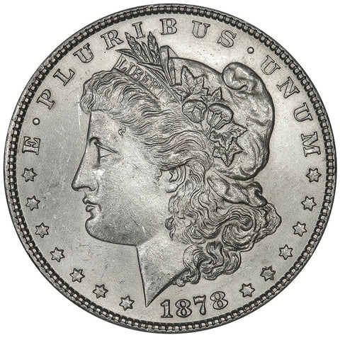 1878 Morgan Dollar Top-100 VAM-141A Tripled Star/Wing Gouge - Premium Quality BU