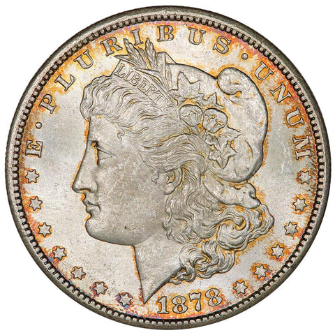 1878-CC Morgan Dollar - Gorgeous Choice Toned Uncirculated