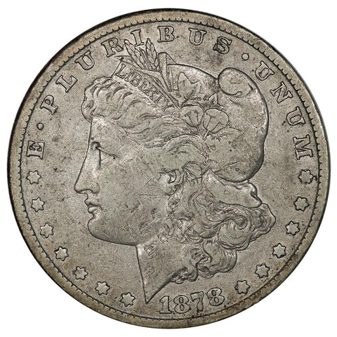 1878-CC Morgan Dollar - Very Fine - Carson City First Year Morgan