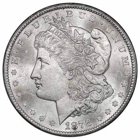 1878-CC Morgan Dollar VAM-11 Lines in Wings - Choice Brilliant Uncirculated