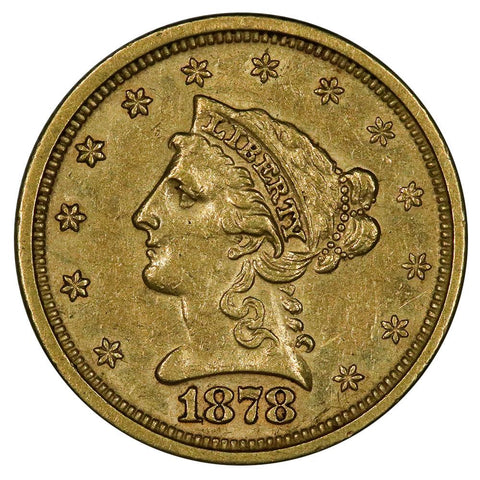1878-S $2.5 Liberty Gold Coin - Nominal About Uncirculated