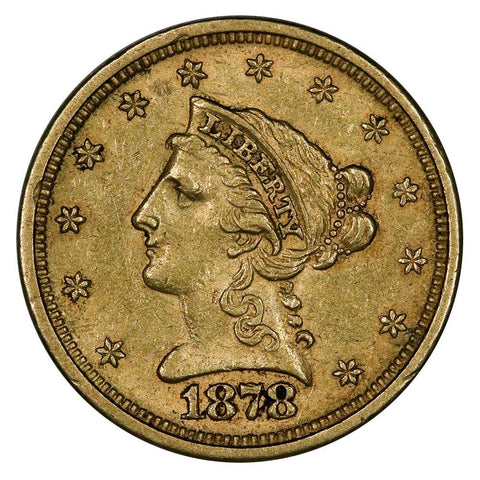 1878-S $2.5 Liberty Gold Coin - About Uncirculated