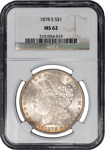 1878-S Morgan Dollar VAM-40  in NGC MS 62