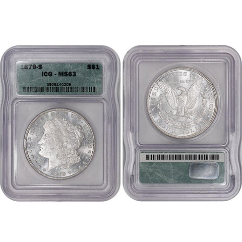 1879-S Morgan Dollar - ICG MS 63 - Choice Brilliant Uncirculated