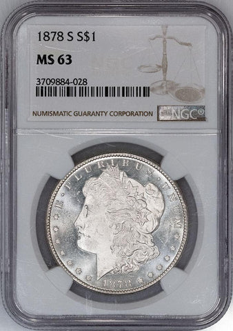 1878-S Morgan Dollar - NGC MS 63