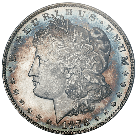 1878 Morgan Dollar - ANACS MS 63 - Pretty Toning