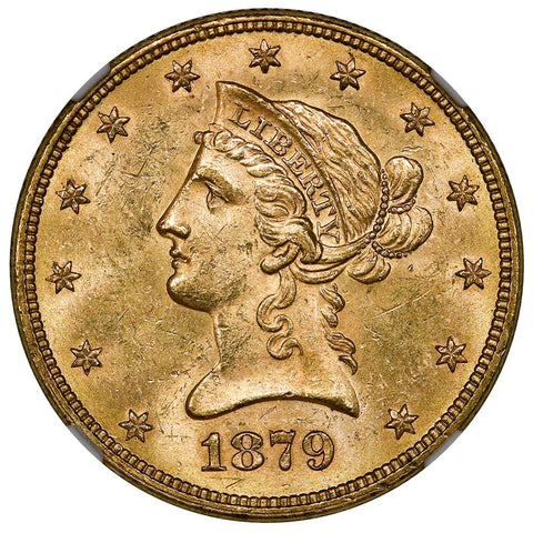 1879 $10 Liberty Gold Eagle - NGC MS 62 - Brilliant Uncirculated