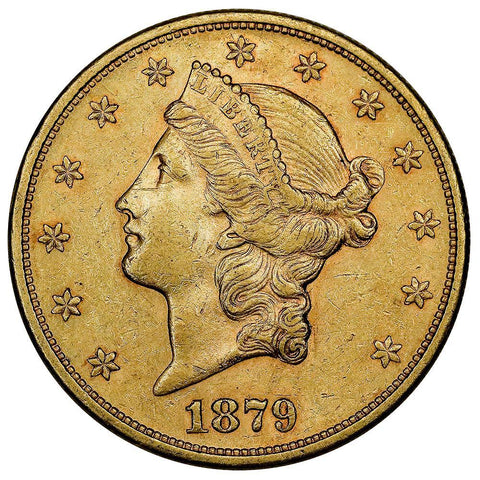1879-S $20 Liberty Double Eagle Gold Coin - XF/AU