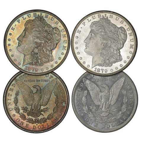 1879-S Rev. of 1879 Morgan Dollars Fresh from Original Roll - Choice Uncirculated+